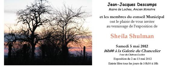 Exposition Sheila Shulman à Loches image001