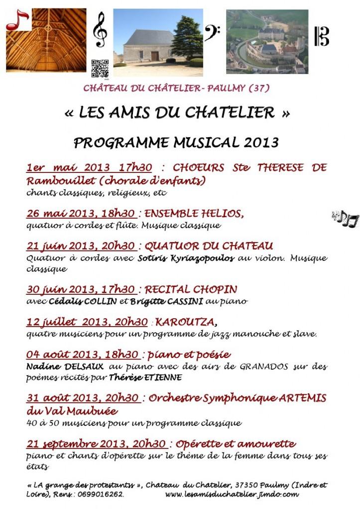 Les Amis du Châtelier : programme 2013 programme2013portraitpagedegarde1